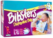 Bibsters Disposable Bib, Toddler, 16 Ct