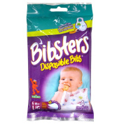Bibsters Disposable Bib, Travel Size, 4 Ct