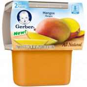 Gerber 2nd Foods Mangos Baby Food, 120ml Tubs, 2 count