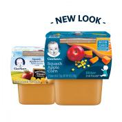 Gerber 2nd Foods Squash Apple & Corn Baby Food, 120ml Tubs, 2 Count