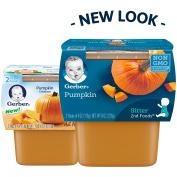 Gerber 2nd Foods Pumpkin Baby Food, 120ml Tubs, 2 count