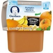 Gerber 2nd Foods Pumpkin Banana Baby Food, 120ml Tubs, 2 Count