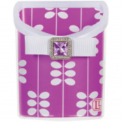 LockerLookz Magnetic Locker Bin, Purple Leaf