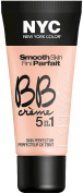New York Colour Smooth Skin BB Creme 5-in-1 Skin Perfector, Light 30ml