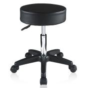Loadstone Studio Extra Large Adjustable Hydraulic Swivel Salon Stool Chair for Massage Spa Tattoo Beauty Seat Black,WMLS1800
