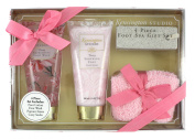 Kensington Studio Foot Spa 4-Piece Gift Set, Peony