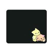 OTM Prints Black Mouse Pad, Cuddle Cats
