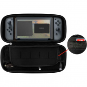 Emio Travel Case and Charger Kit for Nintendo Switch Console, Black