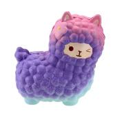 VLAMPO Squishy Toys Squishies Soft Slow Rising Jumbo Alpaca 18cm 1 Piece