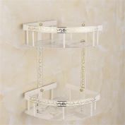 TRRE@ European Golden And White Triangle Shelf, Bathroom Shelf Wall-mounted Bathroom Shelf