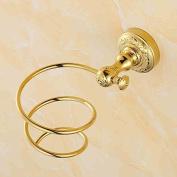TRRE@ European Luxury Carved Golden Hair Racks Bathroom Shelf Wall-mounted Bathroom Shelf