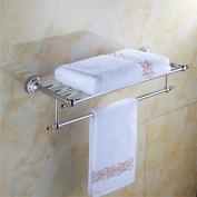 TRRE@ Stainless Steel Double Bathroom Towel Racks, Wall-mounted, Bathroom Accessories Bathroom Shelf