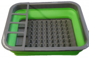 Collapsible Folding Silicone Dish Drainer Camping Caravan Boat Drying Rack