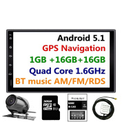 Panlelo PA09YZ32, In dash 2 DIN 18cm Full HD Touch Screen Head Unit Android 5.1 GPS Navigation Car Stereo Quad Core 16GB + 32GB Flash Bluetooth AM/FM/RDS Radio WiFi Backup Camera
