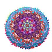 BURFLY Indian Mandala Round Bohemian Sofa Cushion Throw PillowCase