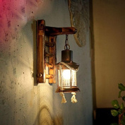Good thing wall lights Retro Nostalgia Wall Lamp Corridor Courtyard Kerosene Glass Horse Lamp