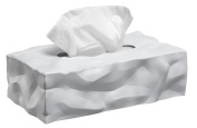 Essey ES05264 Wipy 2 Tissue Box Cover, White