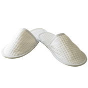 Towel City Waffle Mule Slippers SIZE 8 to 11 COLOUR White