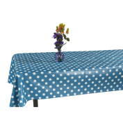 Ottomanson Vinyl Polka Dot Design 140cm X 180cm Indoor & Outdoor Tablecloth Non-Woven Backing