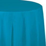 Touch of Colour Plastic Tablecover, Octy Round, 210cm , Turquoise, 1 Ct
