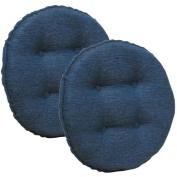 Gripper Non-Slip 36cm x 36cm Omega Tufted Barstool Cushions, Set of 2