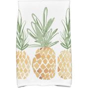 Simply Daisy 41cm x 60cm 3 Pineapples Geometric Print Kitchen Towels