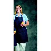 School Smart Heavy Duty Denim Adult Apron, 50cm x 43cm , Blue