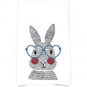 Simply Daisy 41cm x 60cm What's Up Bunny Holiday Animal Print Kitchen Towel