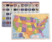 Painless Learning USA Placemat + Flags of the USA Placemats