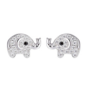 SELOVO 925 Sterling Silver Cubic Zirconia Lovely Elephant Baby Stud Earrings for Child Girls Child
