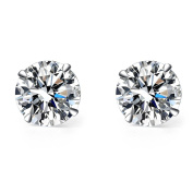 Mu & Nin AAA Silver Sparkling Diamond White Crystal in Platinum overlay sterling silver