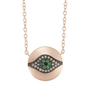 I a m by Ileana Makri Sterling Silver Little Dawn Necklace Pave of 45cm