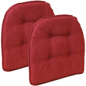 Gripper Non Slip 38cm x 41cm Nouveau Tufted Chair Cushions, Set of 2
