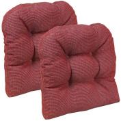 Gripper Non-Slip 38cm x 38cm Venus Tufted Universal Chair Cushions, Set of 2