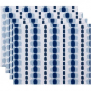 Simply Daisy 46cm x 36cm Watercolour Stripe Stripe Print Placemat, Set of 4
