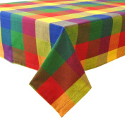 Design Imports Palette Cheque Indian Summer Tablecloth