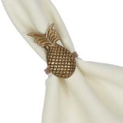 Design Imports Pineapple Napkin Ring Set of Four