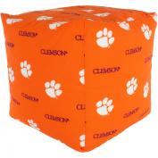 College Covers Fan Shop Clemson Tigers Cube Cushion - 46cm x 46cm