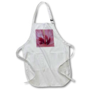 3dRose Hibiscus Centre Oil Painting, Full Length Apron, 60cm by 80cm , Black, With Pockets