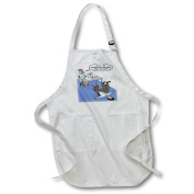 3dRose Eye Doctor - Glaucoma Test, Full Length Apron, 60cm by 80cm , White, With Pockets