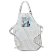 3dRose Luke 10-25-37 - Welcome to My Neighbourhood with Jesus, Full Length Apron, 60cm by 80cm , Black, With Pockets