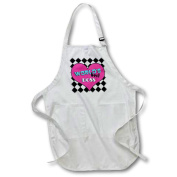 3dRose Worlds Best Boss Pink, Full Length Apron, 60cm by 80cm , White, With Pockets