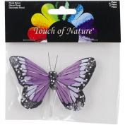 Butterfly W/Wire Pick 10cm 1/Pkg-Deep Purple
