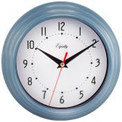 Equity By La Crosse 25014 20cm Slate Blue Analogue Wall Clock