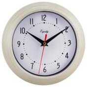 Equity By La Crosse 25015 20cm Almond Analogue Wall Clock