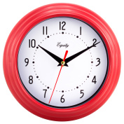 Equity By La Crosse 25021 20cm Red Analogue Wall Clock