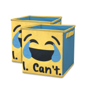EmojiPals I Can't Collapsible 2-Pack Soft Storage Cubes