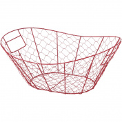 Red Wire Mesh Basket
