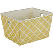 ClosetCandie Large Grommet Storage Bin, Jasmine Gold