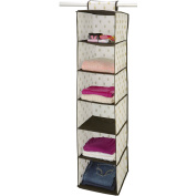 NW 6-Shelf Organiser, White/Gold Dot